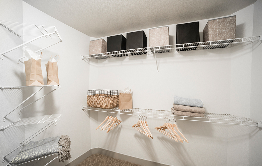 Walk In Closets With Built Shelving