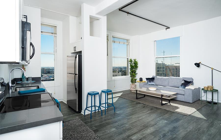 Pershing Square Apartments For Rent In La Lofts At Security Building Open Floor Plan
