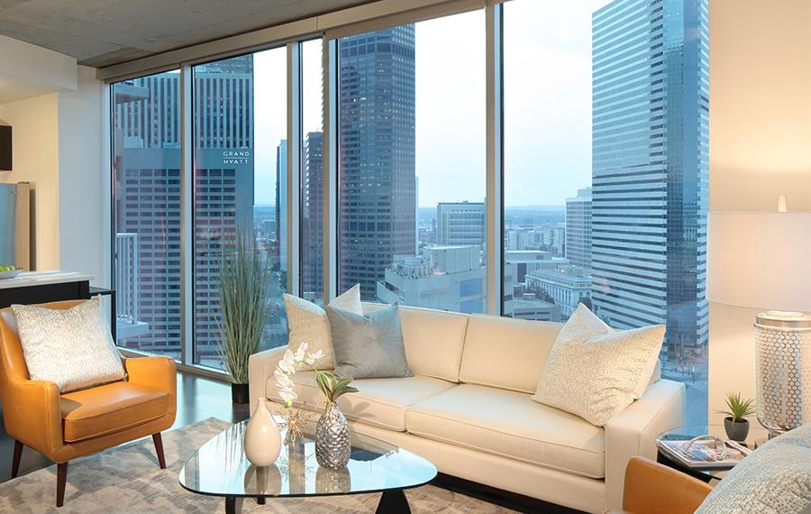 SkyHouse Denver Uptown Apartments - Floor-to-ceiling Windows