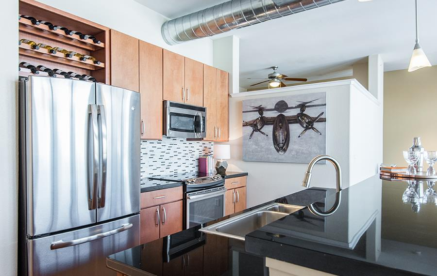 Capitol Hill Denver Rentals - The Boulevard - Stainless Steel Appliances