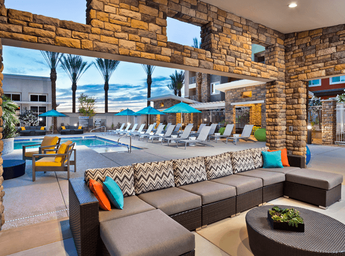 Apartments for rent in North Scottsdale, AZ - Avion on Legacy Outdoor Indoor Lounge Area