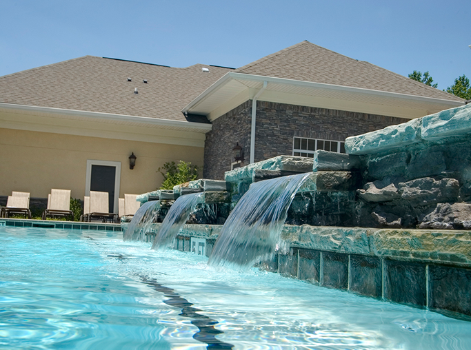 Menlo Creek apartments for rent in Duluth, GA - Pool fountain waterfall features