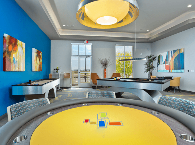 Avion On Legacy apartments near Thompson Peak Health Care - Modern Game Room