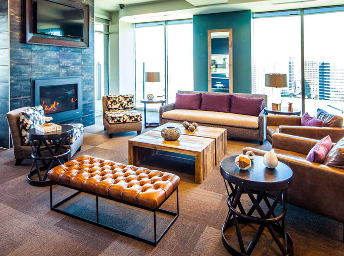 SkyHouse Dallas - Resident Lounge - Apartments in Victory Park
