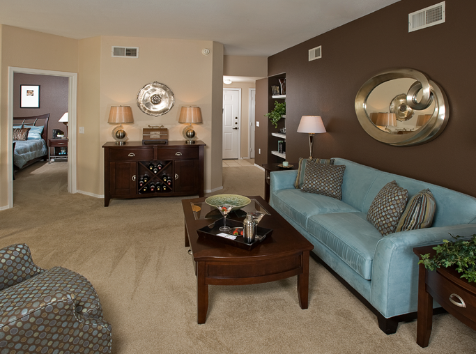Chandler, Arizona apartments - Coronado Crossing Spacious Living Room floor plans