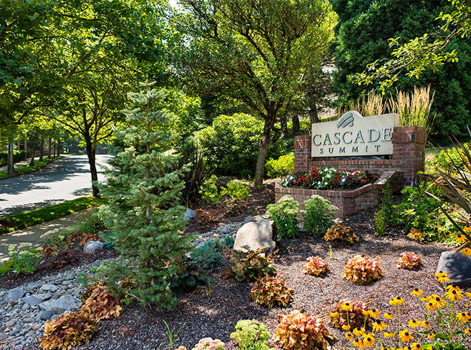 Lake Oswego Apartments in Rosemont Park - Cascade Summit - courtyard