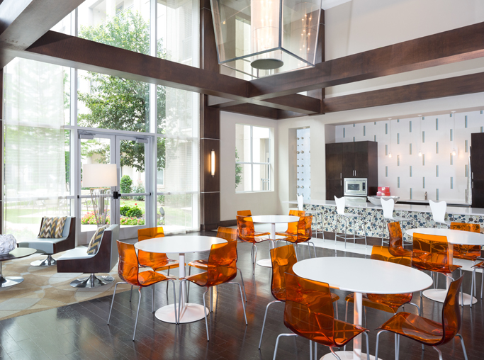 ICON at Ross Modern Kitchen with stainless steel appliances - Uptown Dallas Apartments
