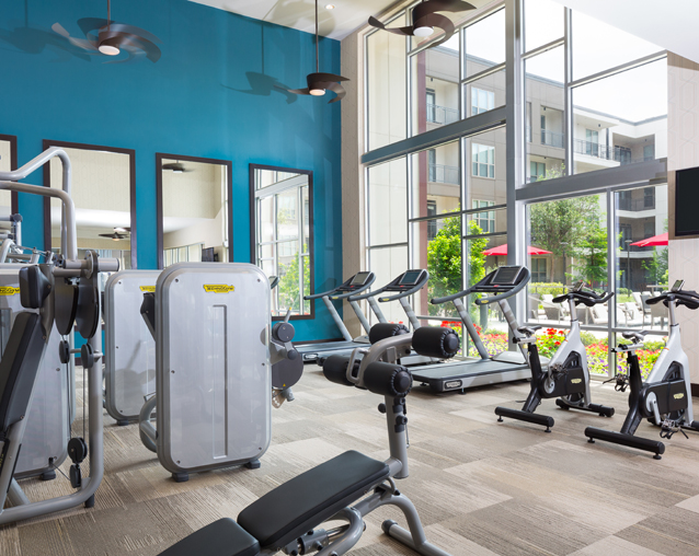 Strata Apartments - Fitness Center - Katy Trail Apartments in Dallas