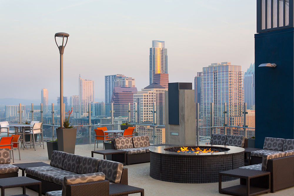 SkyHouse Austin Rooftop Lounge Austin TX - Downtown Austin