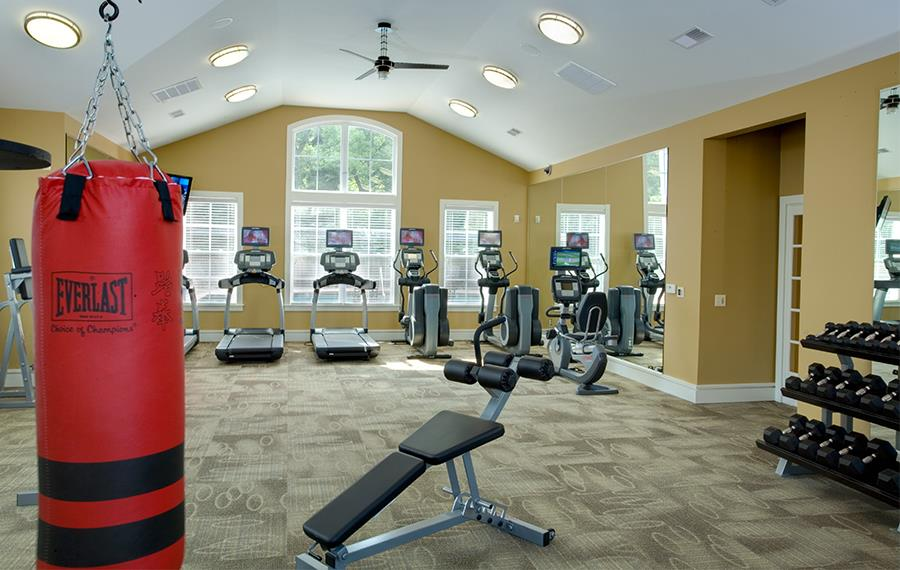 Apartments near Carolina Premium Outlets - Gramercy Square at Ayrsley - Fitness Center