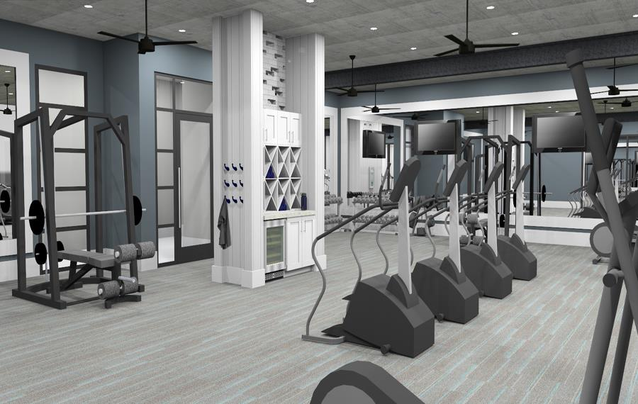 Charlotte NC Townhomes for Rent - The Links Rea Farms - Fitness Center