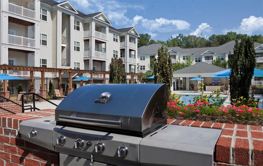 Luxury Apartments Cary NC - Chancery Village - Grills