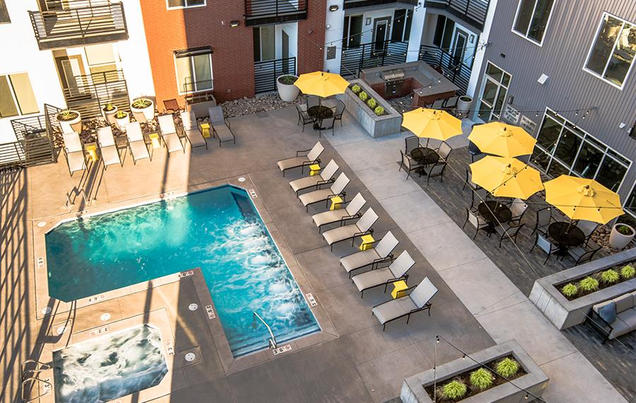 RiNo Denver Apartments - Hartley Flats - Swimming Pool