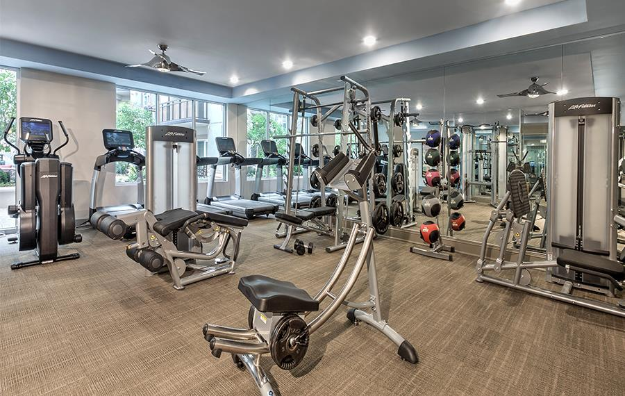 Apartment complexes in Charlotte NC near BofA - The Encore SouthPark - Fitness Center