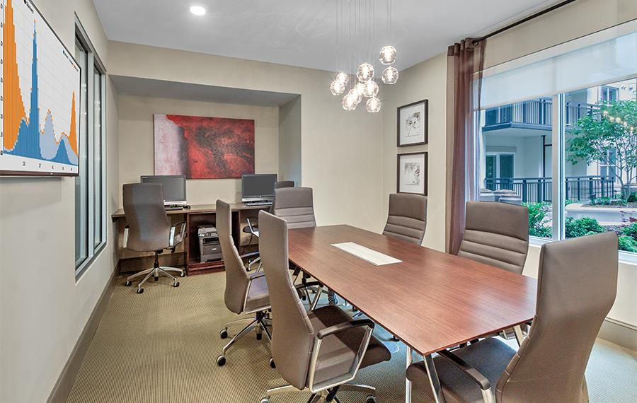 Myers Park apartments near Wells Fargo - The Encore SouthPark - conference room