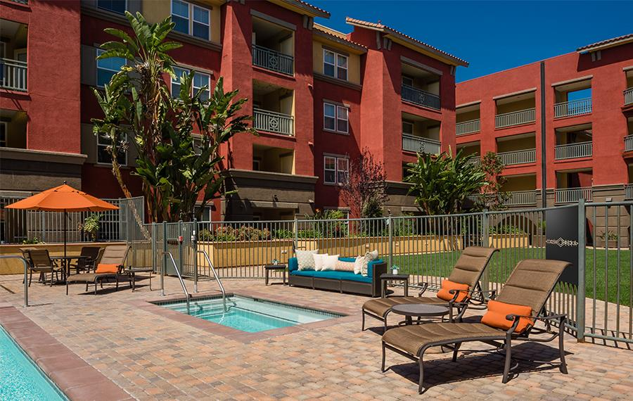 Clairemont apartments for rent in San Diego - Mira Bella Hot Tub