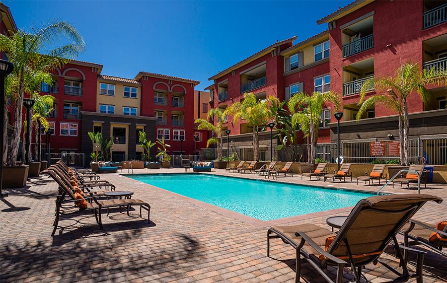 Apartments for rent near Montgomery Field - Mira Bella Saltwater Pool