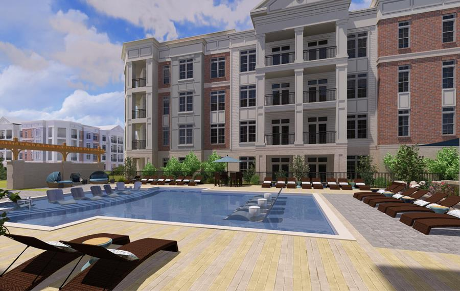 The Links Rea Farms Apartments in Charlotte - Pool