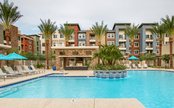 Apartments for rent in Grayhawk, Arizona - Avion on Legacy Saltwater pool and spa with cabanas