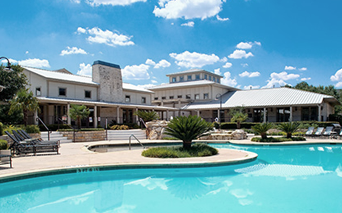 The Ranch Resort style swimming pool with hot tub Austin TX - Round Rock