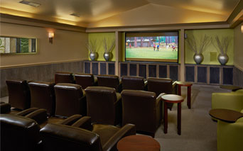 Coyote Ranch Theater Room with large HD screen Aurora CO - Arapahoe Road