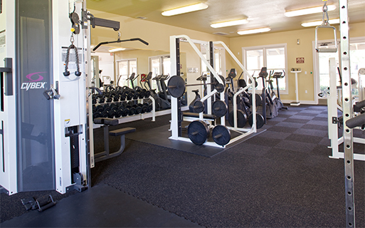 Round Rock School District apartments for rent - The Ranch Apartments Expansive fitness center with free weights
