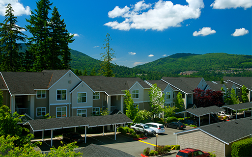 The Highlands apartments near Bellevue College - The Timbers at Issaquah Ridge Beautiful mountain views