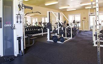 The Ranch Expansive fitness center with free weights Austin TX - Round Rock School District