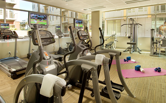 The Matisse 24 hour fully equipped fitness center with free weights Portland OR - Downtown Portland