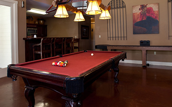 The Ranch Clubhouse with billiards table Austin TX - Cedar Park