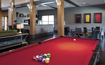 Ridgeview Clubhouse with billiards and free Wi-FI Austin TX - Brodie Springs