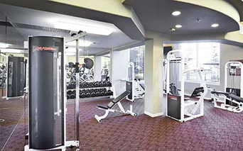 Meadows At Meridian Fully Equipped fitness center with yoga room Parker CO - Lone Tree