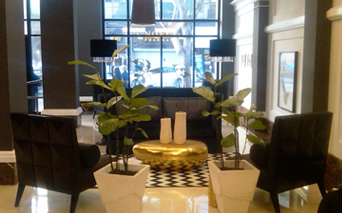 Grand Lobby with concierge Los Angeles CA