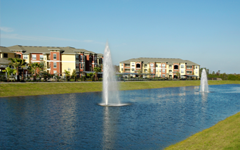 Reserve At Beachline Picturesque lake with running trail Orlando FL - Lake Nona