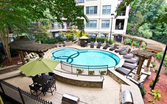 Lenox apartments near Piedmont Healthcare - Gramercy At Buckhead Two sparkling swimming pools