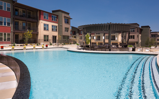 Austin, TX apartments in The Domain - Addison at Kramer Station pool