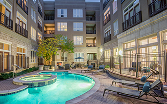 Golden Triangle Apartments for Rent - The Boulevard Lofts - Swimming Pool Denver CO