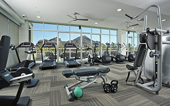 Citrine apartments near Mayo Clinic Phoenix - Fully equipped fitness center