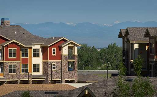 Apartments in the Cherry Creek School District - The Sanctuary At Tallyn's Reach Spectacular mountain views