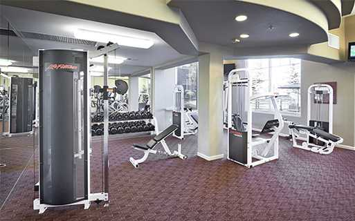 apartments in lone tree co - Meadows At Meridian Fully Equipped fitness center with yoga room