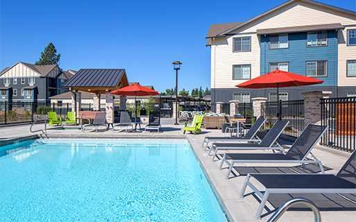 Victory Flats apartments in Cedar Hills - Resort Style heated pool with hot tub