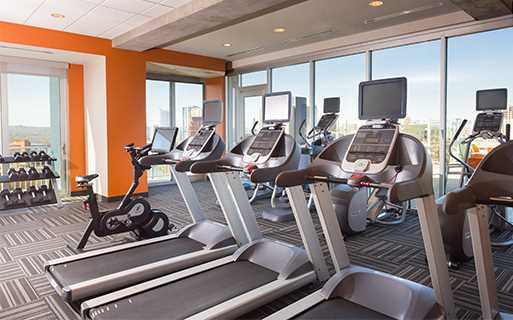 SkyHouse Austin Apartments For Rent On Rainey Street   Fitness Center