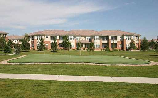 apartments lone tree near Ridgegate - Meadows At Meridian Outdoor putting green and sand volleyball court