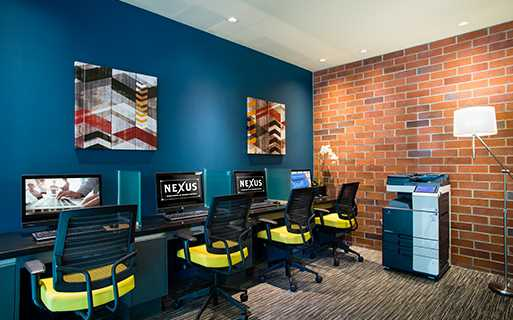 Nexus At Orenco Station apartments in the Platform District - Business Center