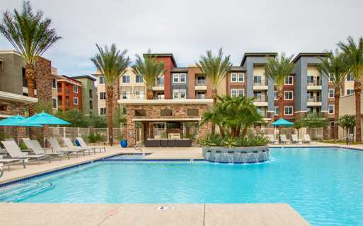 Luxury Scottsdale apartments - Avion on Legacy pool and spa with cabanas