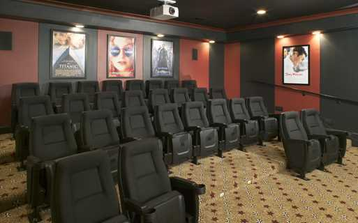 Promenade Park Private screening room for 28 Charlotte NC - Stonecrest