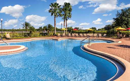 Reserve At Beachline Resort style swimming pool with heated spa Orlando FL - Lake Nona