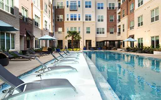 o Apartments near 77098 - District at Greenbriar Resort Style pool and  sundeck