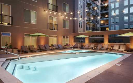The Battery on Blake Street swimming pool - apartments near union station denver