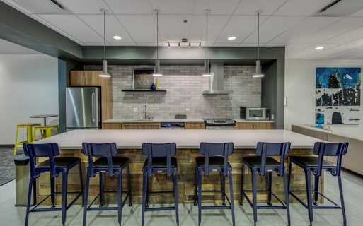 Neptune apartments in South Lake Union, WA - Resident lounge with demo kitchen